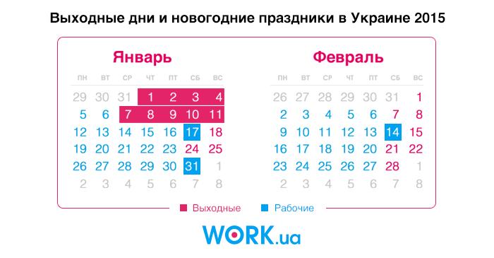 Праздничный календарь в украине