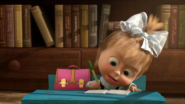 Кадр з мультсеріалу «Маша та ведмідь», 2009 р.